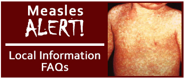 Measles Information. Photo credit: CDC/NIP/Barbara Rice