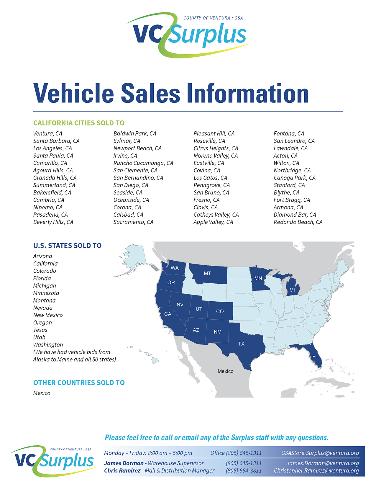 Surplus Vehicle Sales
