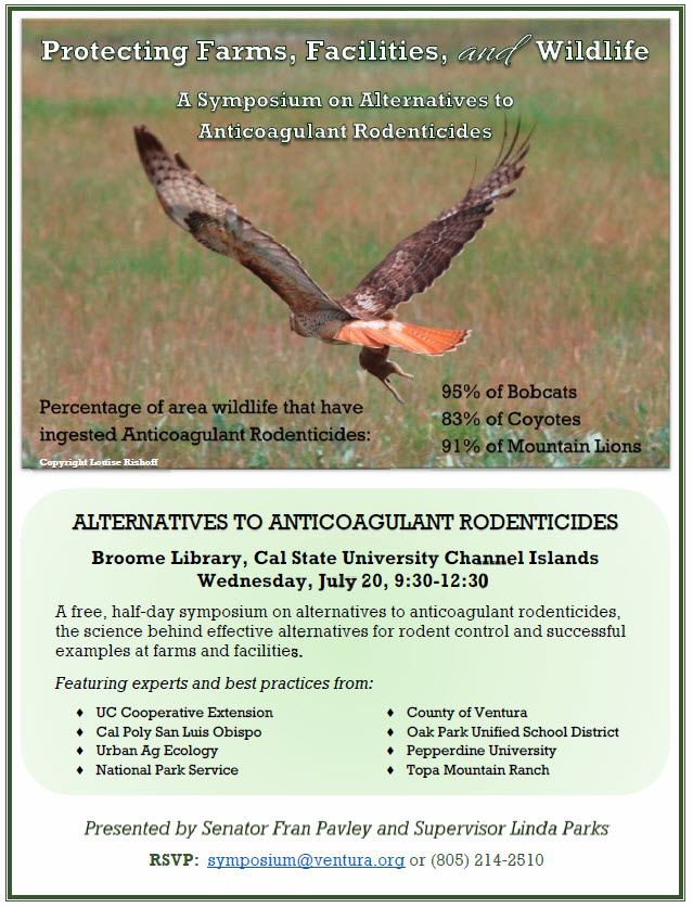 Alternatives to Anticoagulant Rodenticides Symposium flyer