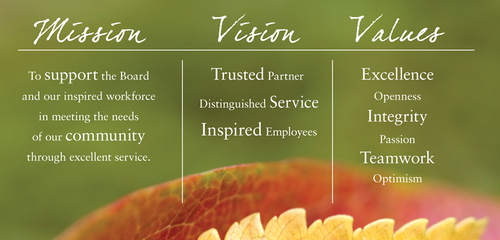 CEO Mission Vision Values