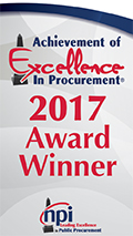 2017 Achievement of Excellence in Procurement Award Winner